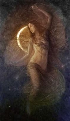 New moon goddess ~ art Wicca, Magick, Witchcraft, Sacred Feminine, Divine Feminine, Art Magique, Ange Demon, Psy Art, Moon Magic