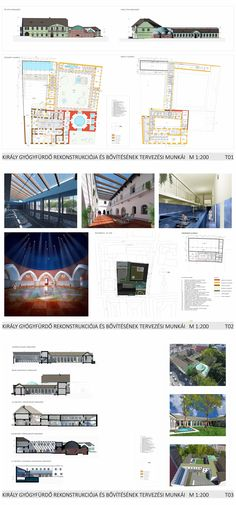 Kiraly Bath thermal bath and wellness, reconstruction, architectural plan