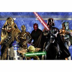Amazon.com: Star Wars Generations Wall Mural: Toys & Games 4.41 free shipping  59.1 x 0.4 x 39.4 inches  3d would look cool with the black light