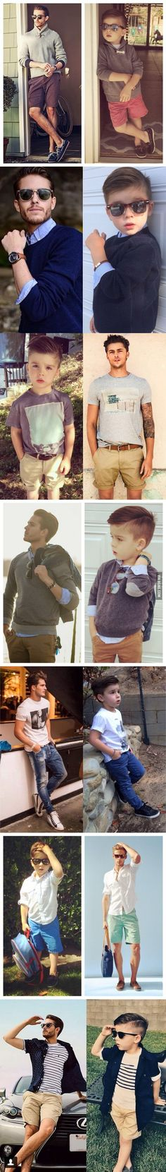 A Mother Dresses Up and Poses Her 4 Year Old Son Like a Male Fashion Model
