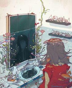 Épinglé par Ciara Brehony sur Illustration and Drawing Art Inspo, Kunst Inspo, Art Anime, Anime Kunst, Fantasy Kunst, Fantasy Art, Pretty Art, Cute Art, Bel Art