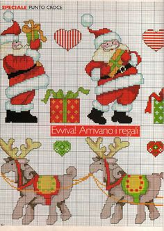 www Santa Cross Stitch, Counted Cross Stitch Patterns, Cross Stitch Charts, Cross Stitch Designs, Cross Stitch Embroidery, Christmas Cross, Merry Christmas, Christmas Ornaments, Cross Stitch Gallery