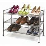 Shoe Rack 3 Tier Mesh Shoe Storage