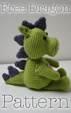 Mesmerizing Crochet an Amigurumi Rabbit Ideas. Lovely Crochet an Amigurumi Rabbit Ideas. Crochet Dragon Pattern, Crochet Animal Patterns, Stuffed Animal Patterns, Crochet Patterns Amigurumi, Knitting Patterns, Crochet Animals, Crochet Dinosaur Pattern Free, Crochet Stuffed Animals, Crochet Hippo