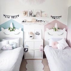 Ultimate TWINNING unicorn goals via @sharlene.home featuring our two alter egos 'Charlotte Bunny and Sophia the Swan Princess'.....Who…