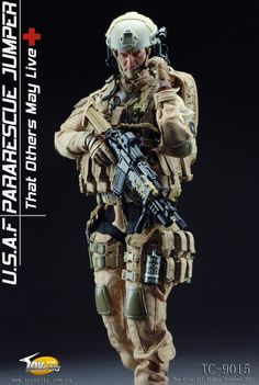 TOYSCITY 1/6 Scale USAF Para Rescue Jumper Soldier Figures $115.00