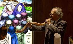 Bob Rubinstein blows the shofar during a Rosh Hashanah service at Temple Sinai on Thursday in Newport News. (Photo by Kaitlin McKeown / Daily Press) Pics For Dp, Newport News, Rosh Hashanah, Hampton Roads, The Hamptons, Thursday, Temple, Bob, Pictures