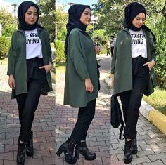 Pinterest @adarkurdish Modern Hijab Fashion, Street Hijab Fashion, Muslim Fashion, Modest Fashion, Hijab Style, Hijab Chic, Girl Hijab, Hijab Outfit, Hashtag Hijab