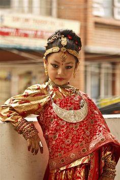 Newari girl, Kathmandu, Nepal.