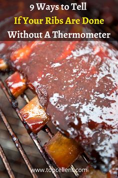 Using a combination of look and feel is the main weapon of the pro BBQ enthusiasts to determine when ribs are ready. Nothing to worry about. It's pretty easy and I'm now going to show you some of the most common ways you can try to know when your perfect BBQ ribs are ready to eat. Smoked Ribs, Bbq Ribs, Barbecue Sauce, To Tell, Weapon, Meals, Cooking, Pretty, Kitchen