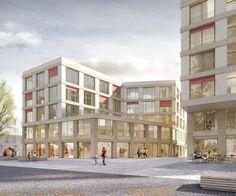 Architektur PALAIS MAI   Am Bauhausplatz München   1. Preis   Visualisierung Jonas Bloch
