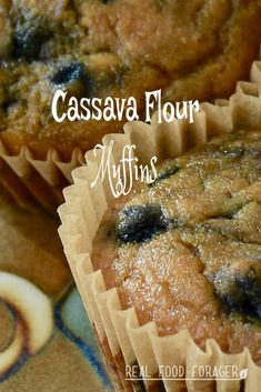 In the interest of increasing biodiversity in my microbiome, I have incorporated cassava flour into my diet. These Cassava Blueberry Muffins have a great taste and texture! Paleo Dessert, Paleo Sweets, Paleo Food, Paleo Diet, Paleo Meals, Paleo Bread, Dukan Diet, Keto, Paleo Muffin Recipes