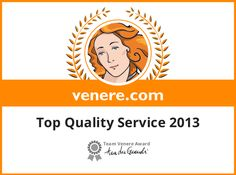 Top Quality Service 2013 - Venere.com Awards