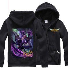 XXXL League of Legends zip up hoodie for men hero KhaZix printing