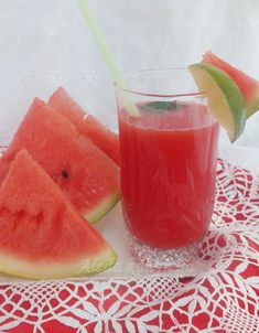 Fruit Juice, Cantaloupe, Recipies, Food And Drink, Organic, Health, Juice, Watermelon, Recipes