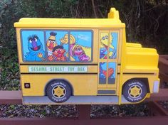 Vintage HUGE School Bus Muppet Sesame street TOY BOX 1980's Fisher Price #FisherPrice