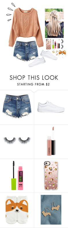 """""""Corgi love!! """" by gussied-up ❤ liked on Polyvore featuring Old Navy, Free People, Vans, MAC Cosmetics, Maybelline, Casetify, Forever 21 and Ross-Simons"""