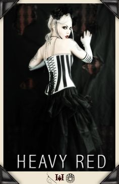 Something you learn being a big girl. Stripes go up and down! Slimming corset.