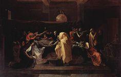 Extreme Unction - Nicolas Poussin, 1636-1639. Series: Seven Sacraments