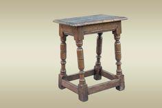17th century joined oak stool, circa 1640. Marhamchurch antiques