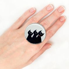 Items similar to Black Cat ring Bohemian ring Creative ring Romantic ring for girlfriend Wide ring Alternative ring Open ring Epoxy resin ring Dainty ring on Etsy Unique Rings, Unique Jewelry, Cat Ring, Animal Rings, Vintage Rings, Gemstone Rings, Handmade Gifts, Etsy, Jewerly
