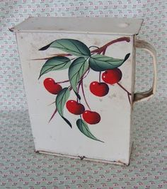 vintage cherry tin