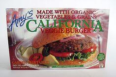 Amy's California Veggie Burger box.