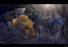 Tunnel rescue of the missing Windclan kits. Jayfeather, Lionblaze, Hollyleaf, Breezepelt and Heathertail