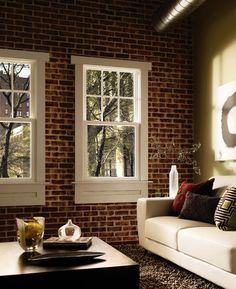 Pella® 350 Series Single Hung window - traditional - living room - Pella Windows and Doors