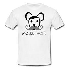 Eine Maus mit einem großen Schnurrbart ist eine Moustache.