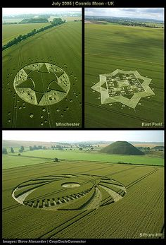 Crop Circles: The Work of Fallen Angels . Don`t be deceived: they are the work of demonic spirits. Crop Circles, Aliens And Ufos, Ancient Aliens, Circle Art, Circle Design, Monte Fuji Japon, Magic Places, Ancient Mysteries, Ancient Artifacts