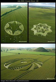 Crop Circle - July 2005 - Cosmic Moon - UK