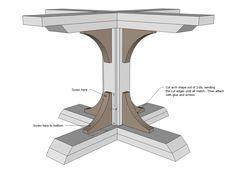 Diy wood pedestal wood pedestal diy wood and woods for Diy square pedestal table