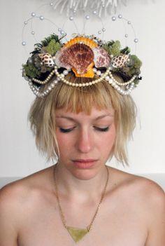 Mermaid Queen Princess Pearl Moss Natural by LoveKultDionysus, $80.00