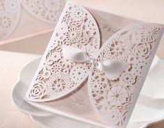 Lasercut lace invitation