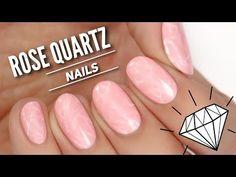Rose Quartz Nail Art Tutorial // TREND ALERT - YouTube