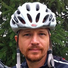 Author Jeff Stone cycling.