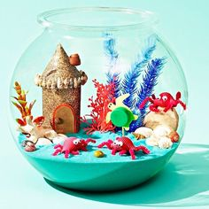 You can decorate your home with a creative take on fairy gardens — miniature mermaid gardens.