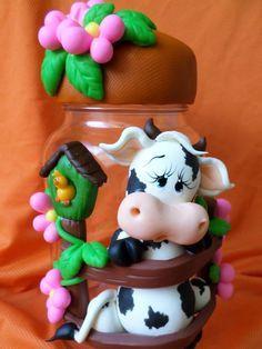 Cow, vaca, vaquinha polymer clay