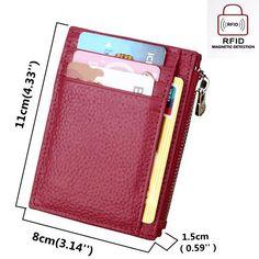 4bb274e4d6b5 Hot-sale RFID Antimagnetic Women Men 8 Card Slots Card Holder Cow Leather  Purse Wallet
