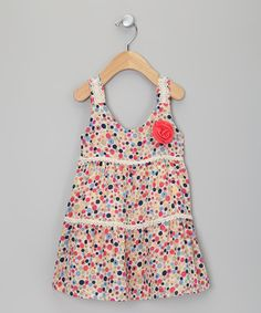 Take a look at this Pink & Blue Polka Dot Dress - Toddler & Girls by Sweet Charlotte on #zulily today!