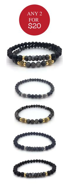 2 for $20 on mens bracelets and accessories.