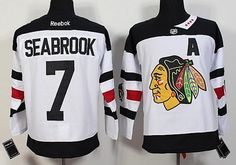 Men s Chicago Blackhawks  7 Brent Seabrook Reebok White 2016 Stadium Series  Premier Jersey. wholesale football jerseys e26312af5