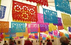 What is the official name of these mexican cut paper decorations?