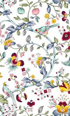 Bathroom Wallpaper, Iphone Wallpaper, Home Textile, Textile Design, Pattern Design, Print Design, Bird Prints, Surface Design, Wool Rug