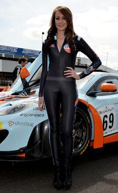 Gulf Racing, Grid Girl. | Flickr - Photo Sharing!