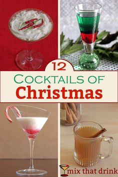 12 delicious Christmas cocktails, featuring winter classics, drinks that taste like Christmas treats, and drinks named after Santa. You're sure to find something to enjoy this winter holiday season.
