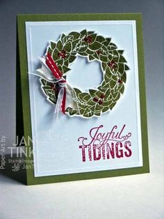 Wonderful Wreath Card
