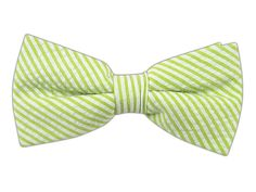 Seersucker - Key Lime (Cotton Bow Ties) | Ties, Bow Ties, and Pocket Squares | The Tie Bar