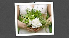 Edible Wedding Bouquets: An Herb and Peony Bouquet Created by Florist Suzanne Blezard